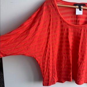 🍊BCBG orange shirt with stripes